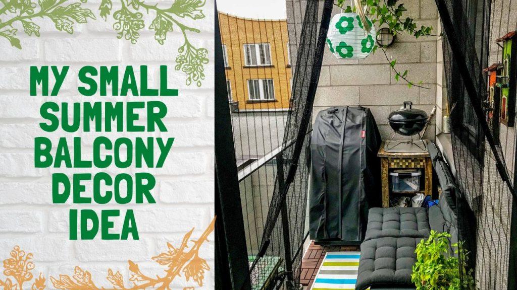 My Small summer balcony 1024x576 - Summer Balcony decor idea